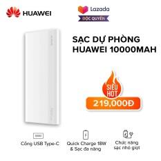 [FREESHIP- ĐỘC QUYỀN LAZADA] Sạc dự phòng Huawei 10.000mAh l Sạc nhanh 18W (Input / Output) l Cổng sạc Type-C l Pin Lithium Polyme l Chế độ sạc nhỏ giọt l HÀNG CHÍNH HÃNG