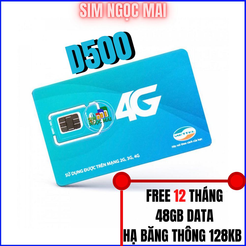 Sim 4G Viettel Trọn Gói 1 Năm D500( 4Gb/Tháng ) – Sim D500