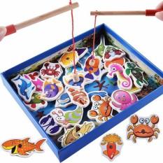 Bộ đồ chơi câu cá nam châm bằng gỗ 32 chi tiết phát triển IQ cho bé