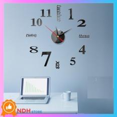 Đồng hồ dán tường thiết kế 3D sang trọng kiểu Châu Âu (Nhiều màu)-[ Đồng hồ treo tường, đồng hồ trang trí ]