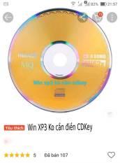đĩa cài win XP3 ko phải điền cdkey