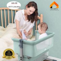 Nôi trẻ em, Nôi cho bé từ sơ sinh đến 3 tuổi, Nôi cho trẻ sơ sinh cao cấp [95*65*85] Nôi, Nệm, Màn, Giỏ đựng đồ tầng dưới, Túi xách khi gấp gọn – H102