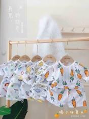 Bộ cotton giấy cộc tay cài vai cho bé 5-15 kg hàng qc cao cấp giao mẫu ngẫu nhiên chất liệu và thiết kế thông minh đảm bảo an toàn cho trẻ sử dụng có độ bền cao
