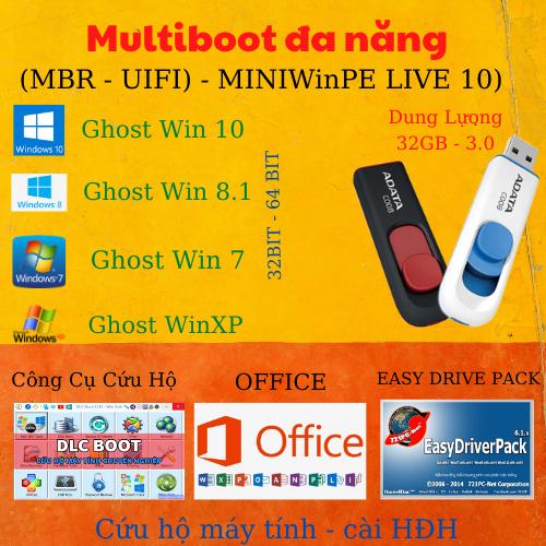 Phần Mềm Cứu Hộ Máy Tính Boot Đa Năng MULTIBOOT MINIWINPE - MBR UIFI