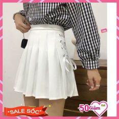 Chân Váy Nữ-Chân Váy Xếp Li Xỏ Dây Một Bên Hot Trend, Nhiều Size, Chất Liệu Kaki Mềm Mịn Dày Dặn, Kiểu Dáng Trẻ Trung Năng Động
