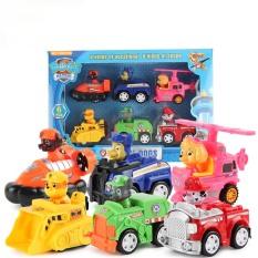 Đồ chơi bộ 6 xe chó cứu hộ, đồ chơi xe trớn cho bé 3+