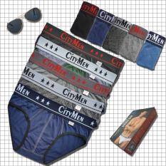 Bộ 5 quần lót nam CITYMEN cao cấp – quần sịp nam tam giác vải cotton 100% mềm mại, co giãn tốt, lưng cao 4cm – Nhiều màu