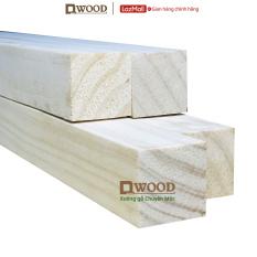 Thanh gỗ vuông Dwood 30×30 gỗ thông nhập khẩu – Chiều dài tự chọn