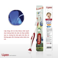 Bàn chải đánh răng Trẻ em với chỉ tơ nha khoa siêu mềm Lipzo Kids S2