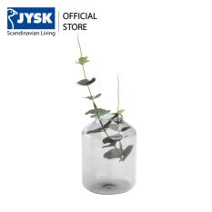 Lọ trang trí JYSK Visti thủy tinh màu xám DK8x12cm