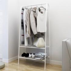 Kệ treo quần áo chữ A 3 tầng 2 ngăn kệ để đồ rộng rãi khung kim loại tiết kiệm diện tích J0318 – HOM