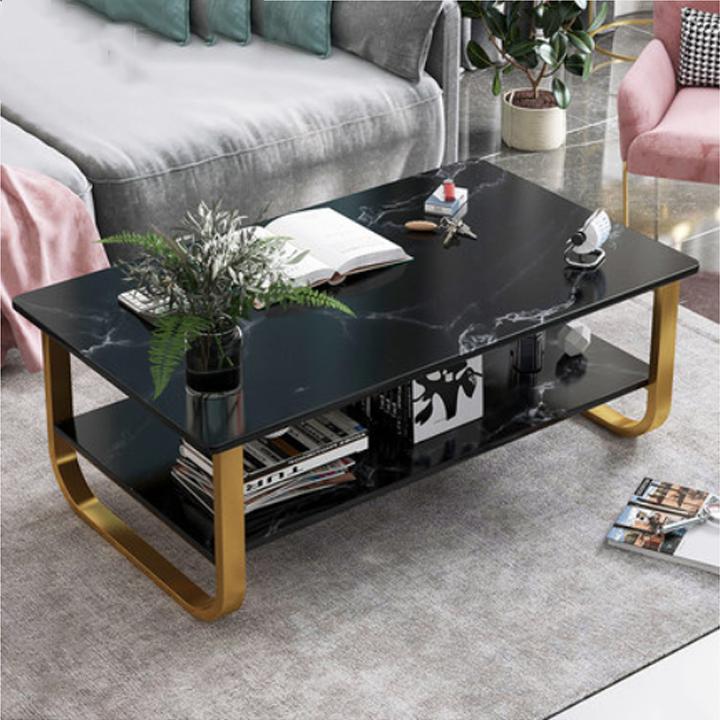 Bàn trà, bàn sofa vân đá chống xước chống nước bề mặt sáng bóng