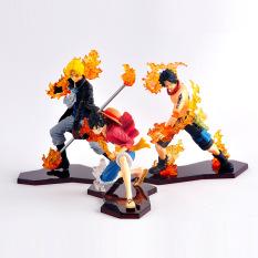 Mô Hình 3 Anh Em Nhà Luffy Mũ Rơm 12-14cm Gồm Sabo, Attack Styling, One Piece, Chất Liệu Nhựa ABS Bền Đẹp
