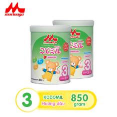 Combo 2 lon Sữa Morinaga Số 3 Kodomil Cho Bé Từ 3 Tuổi 850gr – Hương dâu Date T12.2021 ( tách đai sl có hạn )