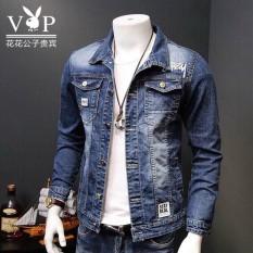 áo khoác jean nam chất bò cao cấp màu xanh đậm hàng hiệu chuẩn shop thời trang 89fashion Store an202