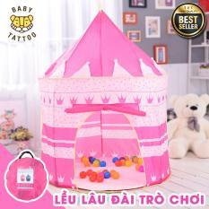 Lều lâu đài Hoàng Tử – Công Chúa BABY TATTOO cho trẻ em/ Nhà trò chơi siêu lớn, Quà tặng Ngày Quốc Tế thiếu nhi