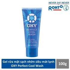 Gel rửa mặt sạch nhờn siêu mát lạnh OXY Perfect Cool Wash 100g