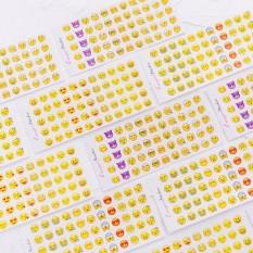 Set 12 Tờ Sticker Emoji Cảm XúcTrang Trí Sổ Sách Độc Đáo