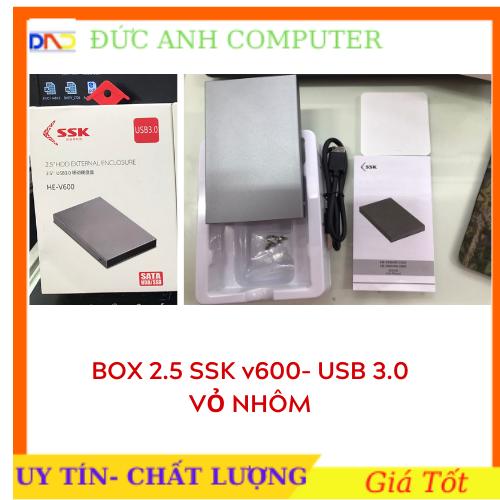 Box chuyển ổ cứng di động SSK He – V600 chuẩn 3.0 – hỗ trợ đến 5GBPS (xám) – chính hãng 100% full box
