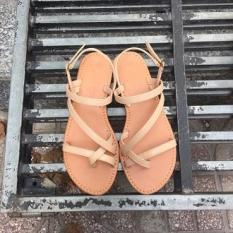 [bảo hành 6 tháng] giày sandal xỏ ngón ngang chéo MPH Shoes – giày sandal nữ thời trang-sandal cao cấp – kem
