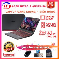 (FULL BOX) Laptop Giá Rẻ, Laptop Chơi Game Acer Nitro 5 An515-54, i5-9300H, RAM 8G, SSD NVMe 256G, VGA Nvidia GTX 1050-3G, Màn 15.6 FullHD IPS Sắc Nét