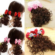 Bộ Kẹp tóc giả cho bé gái – Kẹp tóc cho bé – Tóc giả búp bê cho bé gái – Tóc giả kẹp tóc hoa cho bé