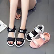 Dép sandal nữ quai ngang chữ Sport siêu nhẹ đi cực êm chân – giày sandal nữ, sandal đi học, sandal hàn quốc, sandal đế bệt, sandal đế bánh mì, sandal đế bằng, sandal 3 quai, màu đen trắng hồng, sandal nu dep di hoc