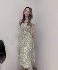 Đầm Nữ Cúc Họa Mi Suông Dáng , 2 Màu Xanh , Đen Thiết Kế Thời Trang Nữ – Winday