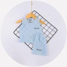Bộ ba lỗ cotton gân Avaslew cho bé từ 5-15kg