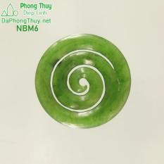 Mặt ngọc bích phong thủy no đủ NBM6- Diệp Linh.