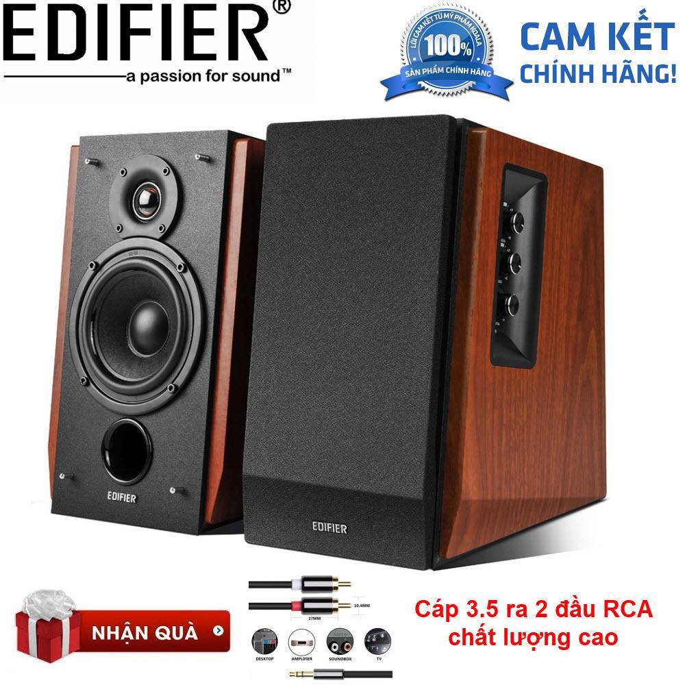 Loa Edifier R1700BT (Nâu) - Tặng cáp Audio 3.5mm ra RCA hoa sen cao cấp