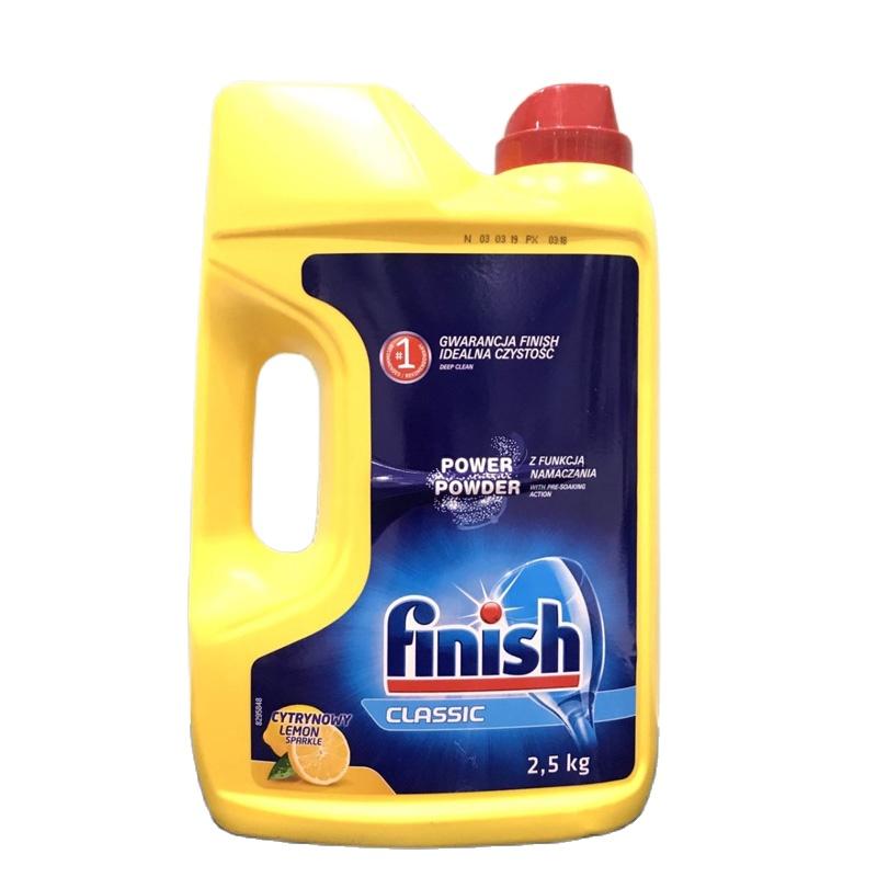 Bột rửa bát Finish 2.5kg + Tặng viên rửa bát