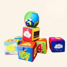 Đồ chơi cho bé bộ xúc xắc hình khối vui nhộn ToyBox bằng vải