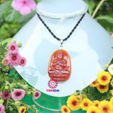 Dây chuyền Phật Như Lai Đại Nhật_ Phật hộ mệnh cho tuổi Mùi_Đá Phong Thủy_ Mặt Phật Đá Mã Não Đỏ (3,3 x 5 cm)