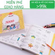 Sách tô màu loại Dày 360 trang – 5000 hình vẽ KamiToy Giấy chuyên dụng / Hàng <50k KamiHome vận chuyển