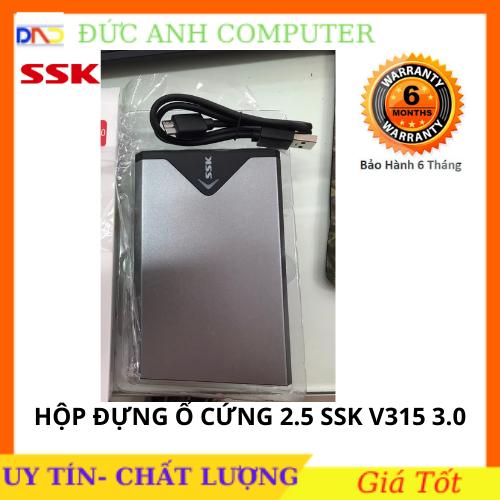 Hộp đựng ổ cứng HDD Box ssk 2.5 Sata She-v315(300)- Hỗ Trợ Lên Đến 5Gb – Chính Hãng 100% Full Box
