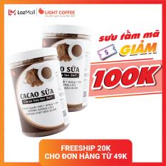 [MÃ GIẢM 100K] Combo 2 hũ bột cacao sữa 3in1 GreenD Food – 550gr