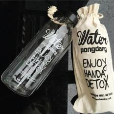 Bình Nước Nhựa WATER PONGDANG Detox 1 Lít Tặng Kèm Túi siêu tiện lợi