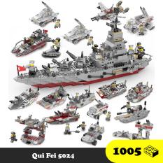 Lego lắp ráp thuyền chiến 113 – Qui Fei 5024 – 1000 Mảnh ghép