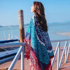 Khăn choàng thổ cẩm kết hợp thời trang, đặc biệt đi biển ( khăn rộng )