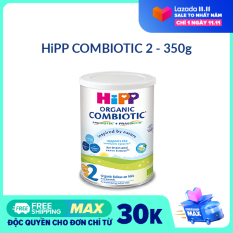 [FREESHIP] [CAM KẾT HSD CÒN ÍT NHẤT 8 THÁNG] Sữa HiPP 2 ORGANIC COMBIOTIC 350g- Hữu cơ, Non GMO, tăng sức đề kháng