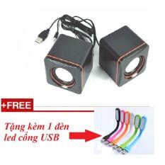 Loa vi tính mini 101C tặng kèm 1 đèn led usb