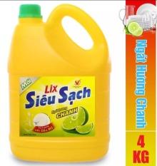Nước rửa chén Lix Siêu sạch hương Chanh (4kg)