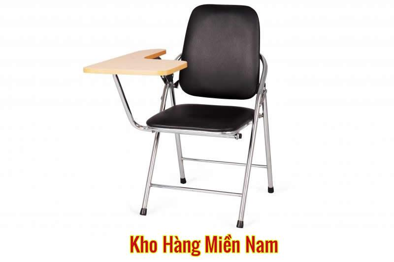 Ghế xếp liền bàn - Ghế gấp liền bàn INOX Xuân Hòa GI 05-00B MÀU ĐEN