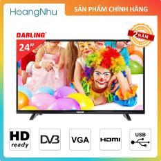 TV LED Darling 24 inch 24HD900T2 (HD Ready, Tích hợp truyền hình KTS)