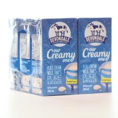 Sữa tươi nguyên chất tiệt trùng Devondale nguyên kem lốc 6 hộp x 200ml
