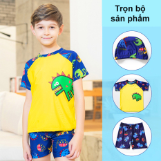 Đồ bơi cho bé trai, đồ bơi khủng long bé trai 3-10 tuổi chất thun đày cao cấp co giãn thoải mái Baby-S – SDB015