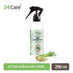 Xịt Phòng Tinh Dầu Hữu Cơ Organic 24Care 250ML – Kháng khuẩn – Khử mùi hôi – Đuổi muỗi, kiến ba khoan, côn trùng – Hương thơm thư giãn