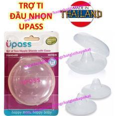 (Đầu ti nhọn) UPASS (Thái Lan) – Hộp 02 cái trợ ti ngực silicone mềm cho Mẹ hỗ trợ cho bé bú Upass UP1001N