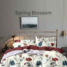 [Freeship] Giảm Giá Đặc Biệt Accasa Bộ Ga Giường 04 Món Cotton Poly Flowers Happy Blossom Hoa Hạnh Phúc 550 Sợi Chống Phai Nhăn Xù Lông Malaysia Chính Hãng Độc Quyền